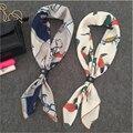 70 х 70 см Мини-моды шарф женщин, 100% Шелковый Шарф Площади животных Дизайн шарфы люксовый бренд, женщины шарфы для элегантной отделкой