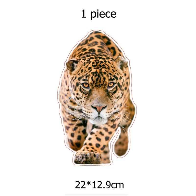 ثلاثة Ratels TZ-1308 #22*12.9 سنتيمتر المشي ليوبارد ملصقات السيارات مضحك سيارة ملصق السيارات الشارات