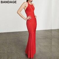 Leger Babe HL 2019 Summer Evening Gown Formal Vestidos Pleated Hem Cold Shoulder Open Back Backless Premium Red Halter Dress