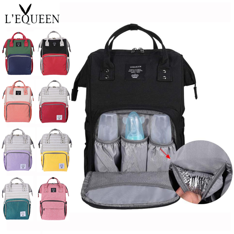 LEQUEEN Maternity Mummy Diaper Bag Baby Care Travel Outdoor Nappy Backpack Handbag Baby Bag Nursing BagTravel Backpack Designer