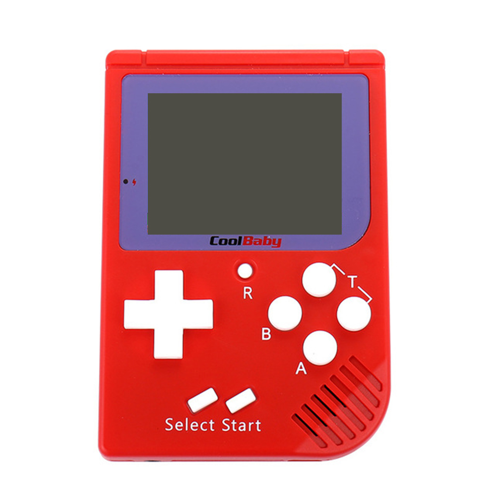 20pcs Coolbaby RS-6 Portable Retro Mini Handheld Console 8 bit 2.5 inch LCD Color Colour Children Game Player Built-in 129 Games