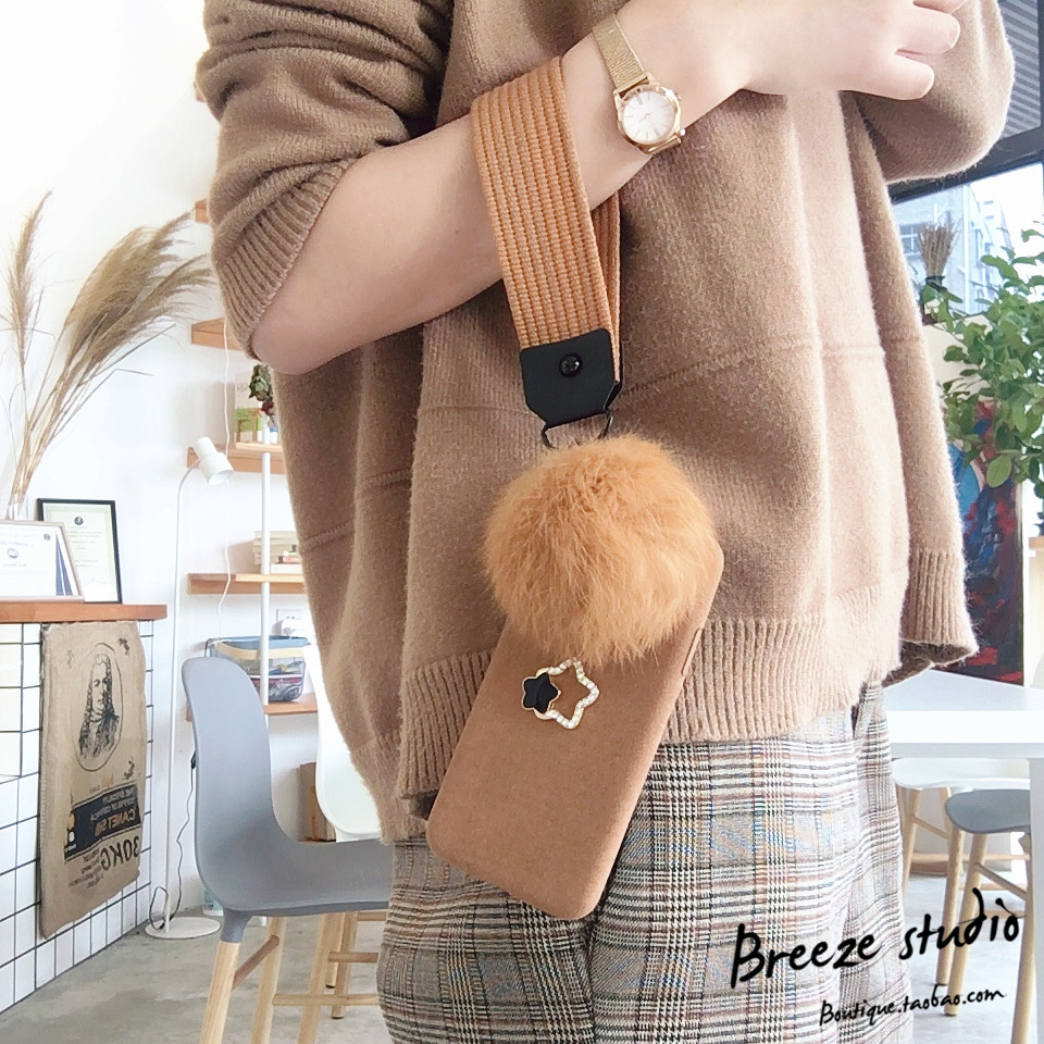 Plush flannelette hand rope hair ball Phone Case For iPhone 7 PLUS With Free Phone Strap ...