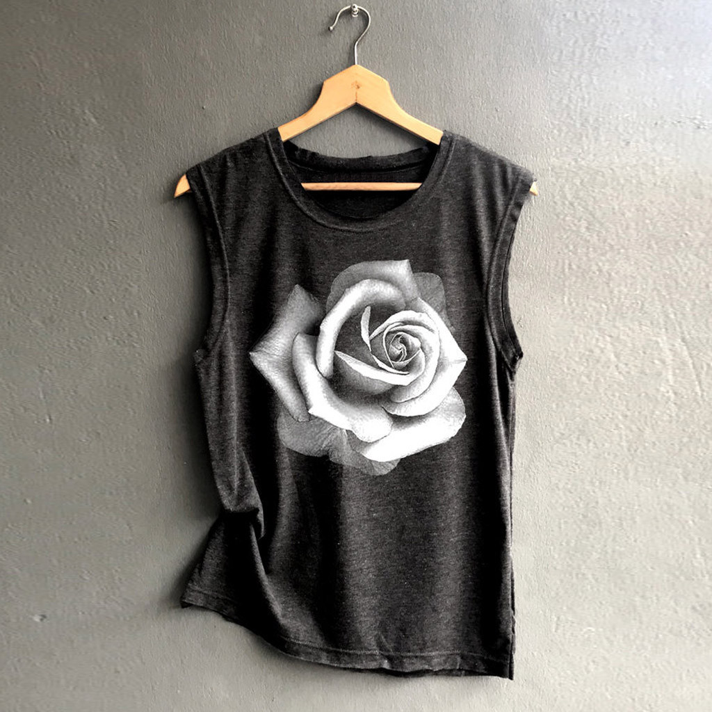 Women Sleeveless Print Shirt Casual Loose Tank Top Soft Comfortable top women Camisole Top Sleeveless T-Shirt Tank Top famale(China)