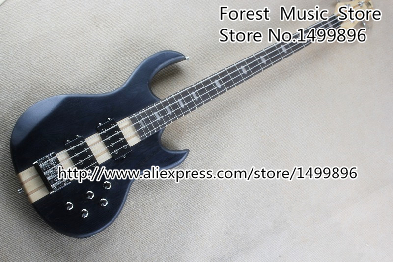 Hot Selling Neck Through Bass Guitars Chinese 4 String Chrome Hardware Bass Guitar Free Shipping finish bass guitars electric chinese 5 string bass butterfly bass guitar free shipping made in china