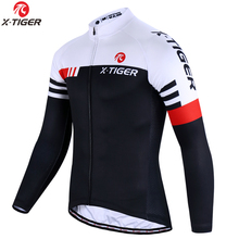 Camisa de ciclismo de manga longa e alta qualidade, roupas esportivas para bicicleta mtb, mountain bike, roupas de ciclismo, X TIGER