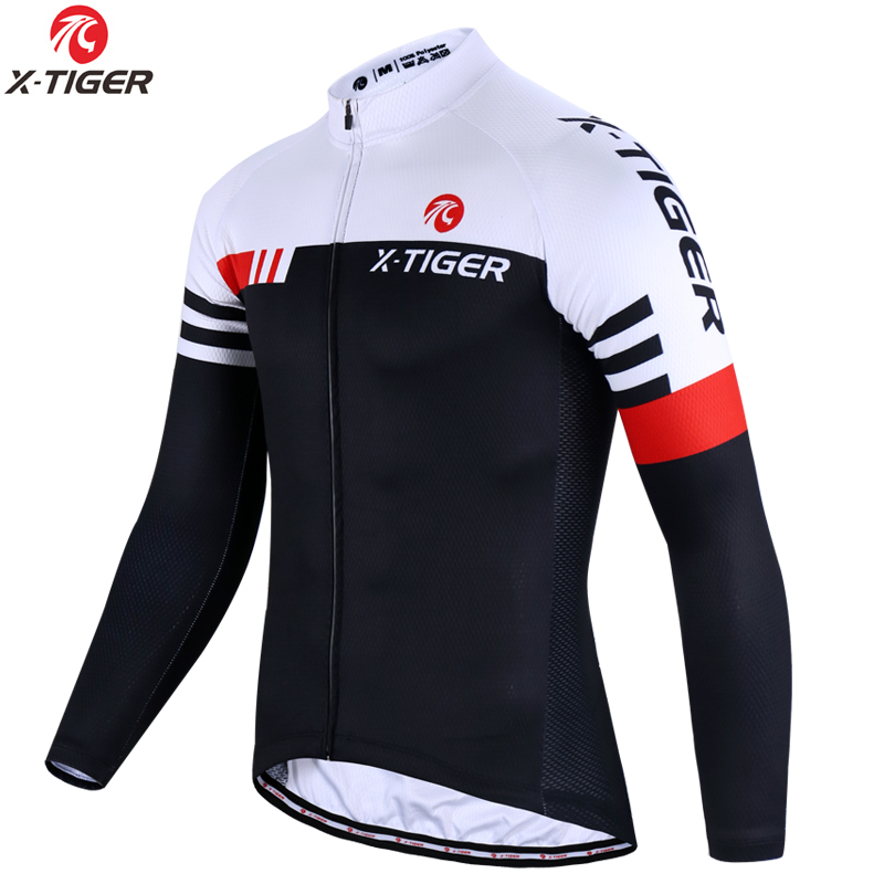 X-TIGER Top Quality Cycling Jersey Long Sleeve MTB Bicycle Cycling Clothing Mountain Bike Sportswear Cycling Clothes leobaiky 2018 pro long sleeve cycling jersey sets breathable 3d padded sportswear mountain bicycle bike apparel cycling clothing