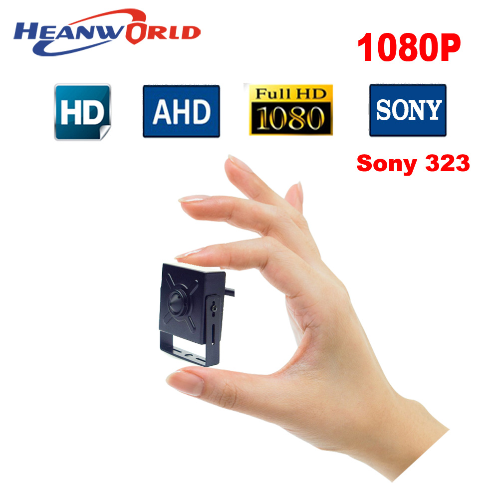 Newest mini AHD camera 1080P indoor analog camera security CCTV HD camera monitoring system for home use with pinhole 3.7mm lens indoor plastic mini sony322 2441h 1080p 2mp ahd camera for home security baby monitor shops buses