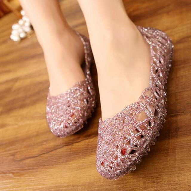 ef43d6799c8 Online Shop HENGSONG Clear Jelly Shoes Womens Jelly Sandals Summer plastic  shoes Woman Mesh flat Hollow Out Girl sandalias sapatos RD864521