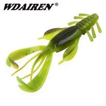 2Pcs/lot Wobblers Fishing Lures shrimp Soft Bait 100mm 10.5g jig Swimbaits Carp Bass Artificial rubber Lure Pesca Fishing tackle цена 2017