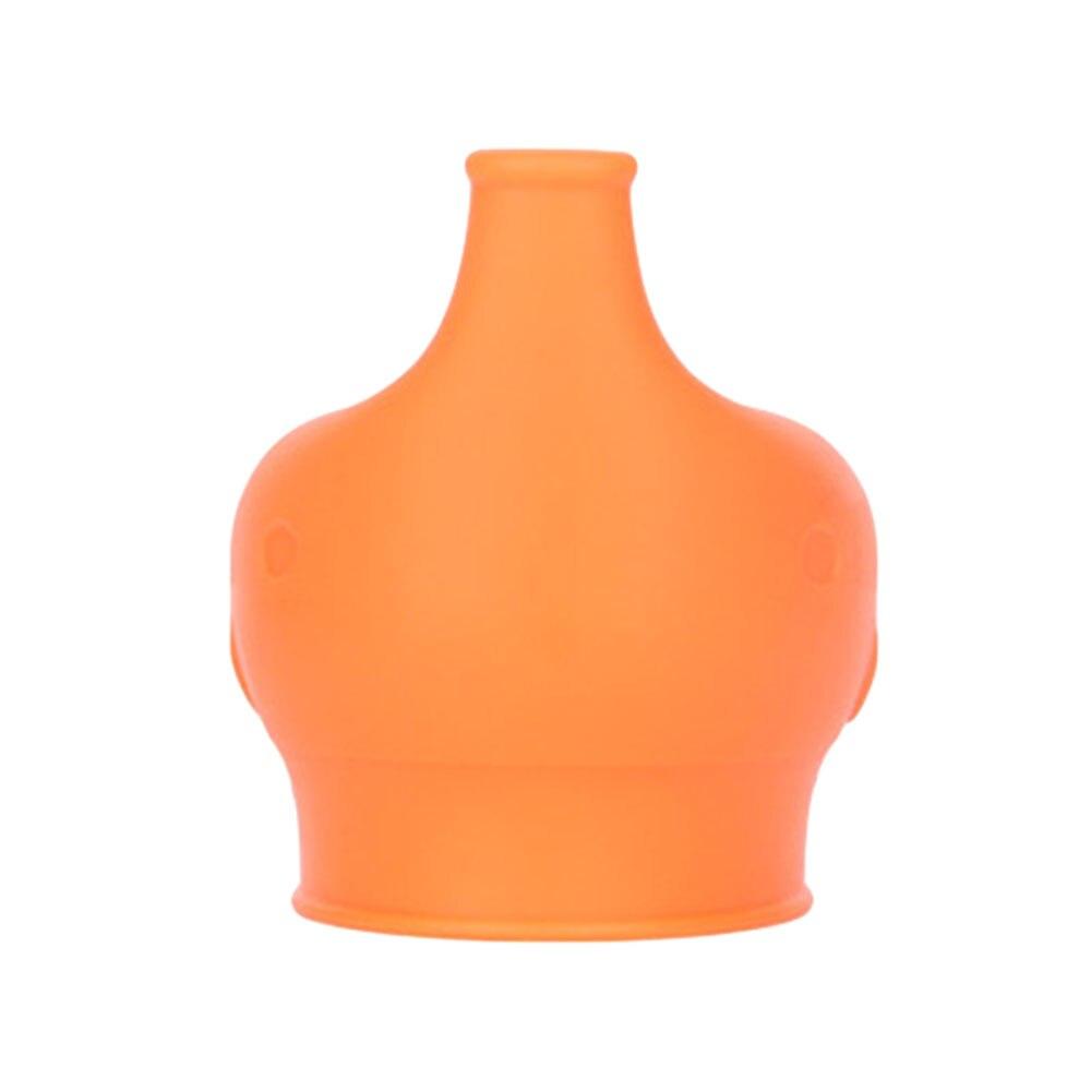 Сиппи открывающаяся крышка Силиконовая Стекло чашки ребенка поставить защита от проливов питья силиконовая крышка детские бутылочки Кепки аксессуары для бутылок - Цвет: orange