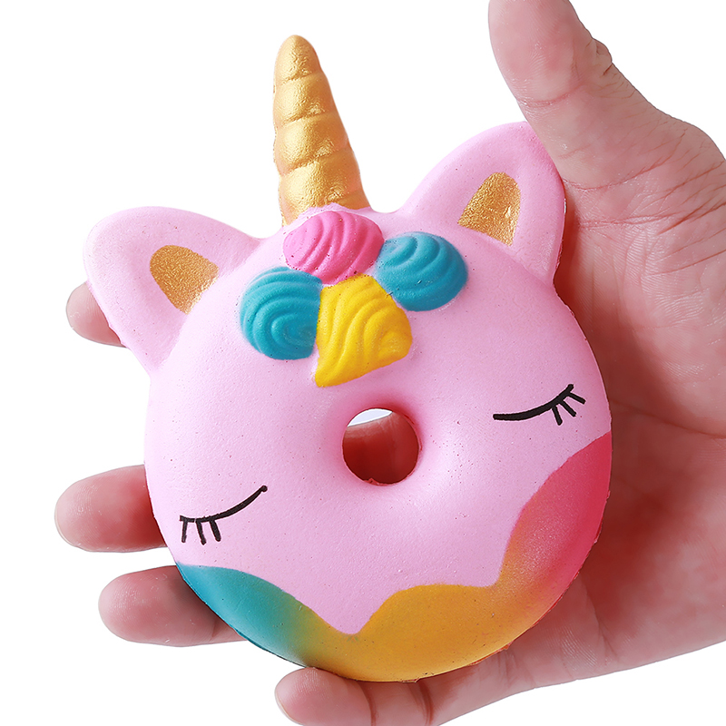 Kawaii 12CM <font><b>Big</b></font> Donut Unicorn Jumbo <font><b>Squishy</b></font> Slow Rising Pink unicorn Doughnut Squeeze Fun <font><b>Toy</b></font> for Children Antistress Kids <font><b>Toy</b></font> image
