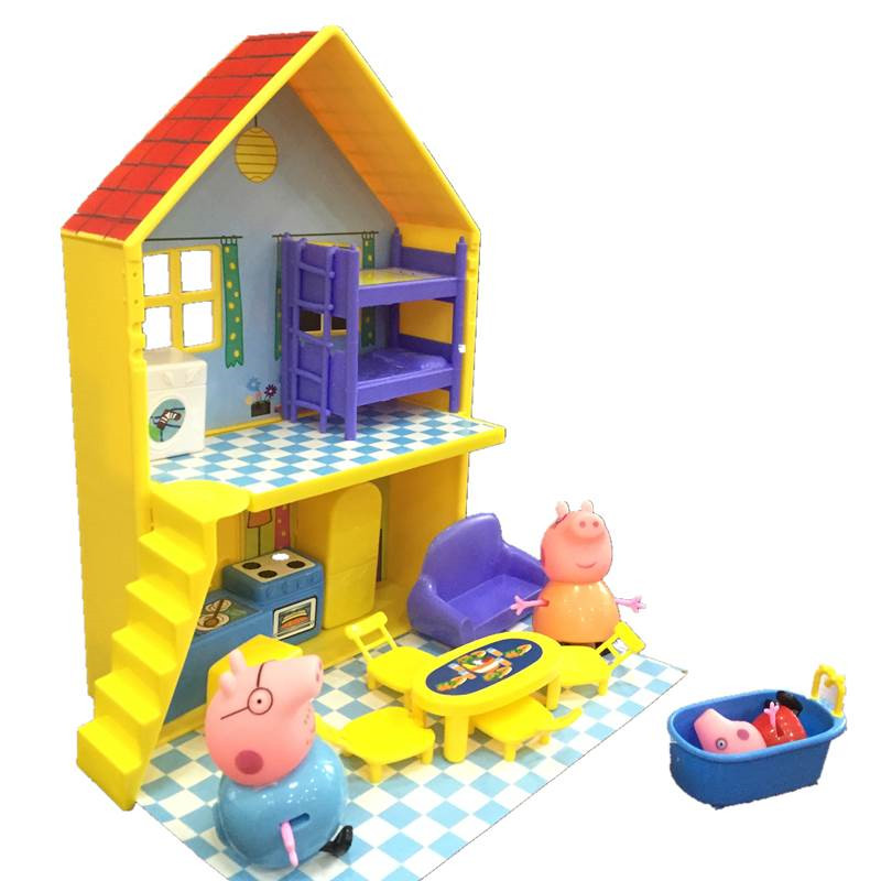 Peppa Pig Toys Doll Real Scene Model Amusement Park PVC Action Figures Family Member Early Learning Educational