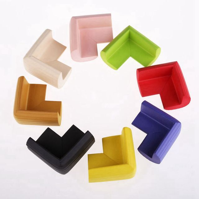 10Pcs Kids Baby Soft Safety Table Corner Edge Guard Protection Cover Children Multicolor U Shape Mini Stripe Corner Random Color 3