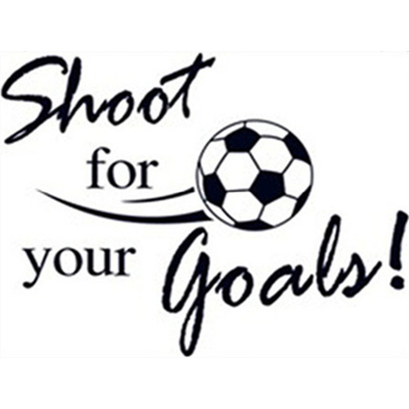 Soccer Quotes Wall Decals Shoot For Your Goals 3d Football