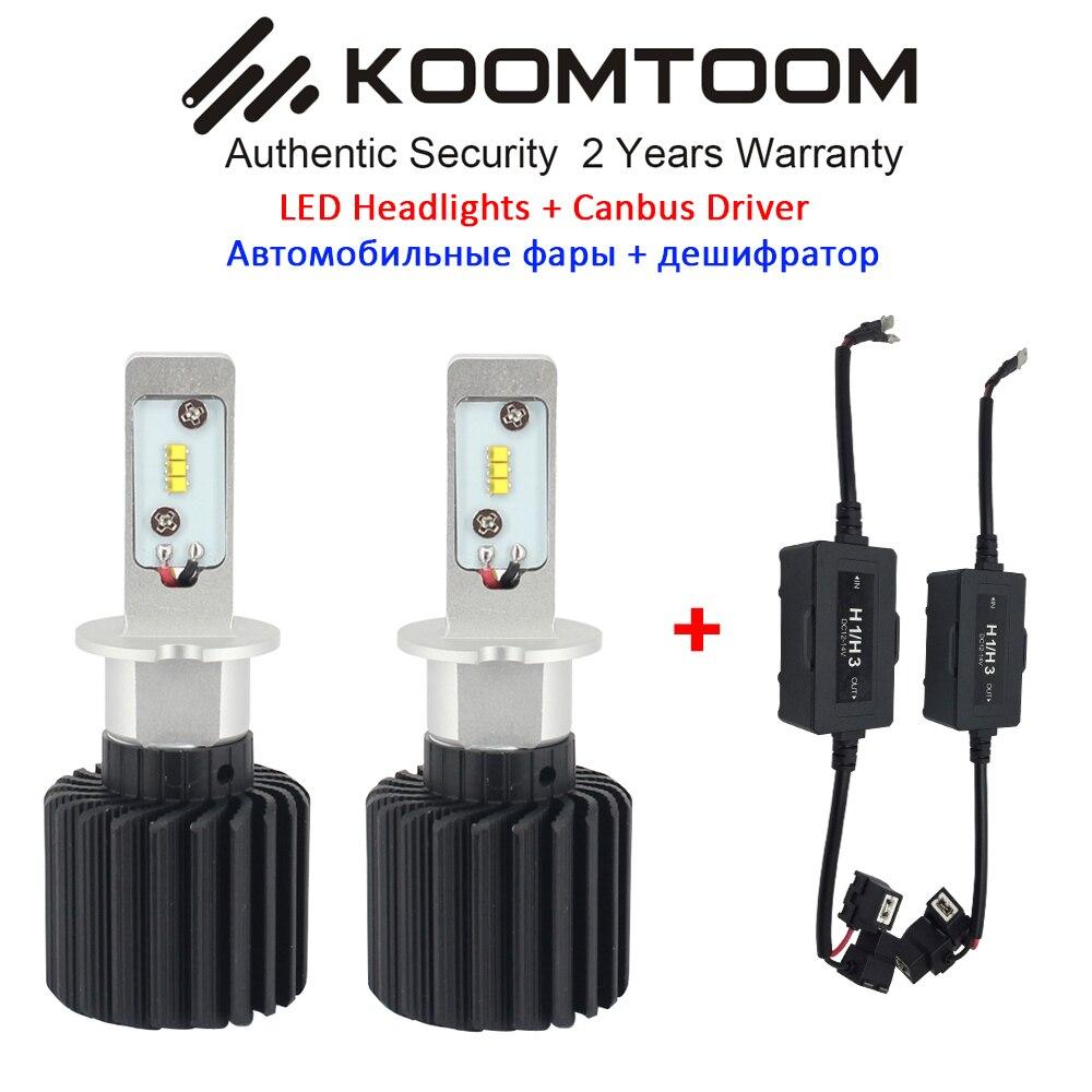 ФОТО NEW!!!! 2PCS H3 LED Headlight Canbus Decoder Headlight Bulb Free Error H4 LED Bulb Low or high beam