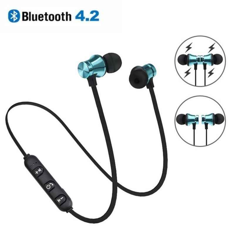 Bluetooth 4.2 Stereo Earphone In-Ear Earbuds Headphone Sports Headset Wireless Magnetic Earpiece