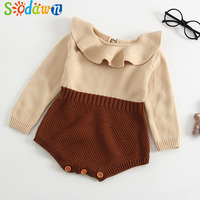 Sodawn 2018 New Spring Autumn Cute Princess Baby Romper Newborn Baby Clothes Long Sleeve Jumpsuit Infant
