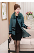 Traditional Dust Coat Chinese Women's Wool Winter Jacket  Size XL-5XL цена