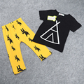 Summer new style children Europe and the United States  boy short sleeve  certoon o-neck causal 2-piece suite  for 2-7 years