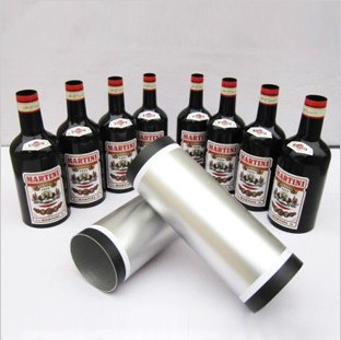 Magic Bottles/bottles appear from double cylinder Black set stage magic tricks party magic tricks prop and training set shrinking cards