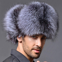 d08391e4443 New Top Quality Mens Faux Fox Fur Leather Winter Hats Lei Feng Hat Ear  Flaps Warm