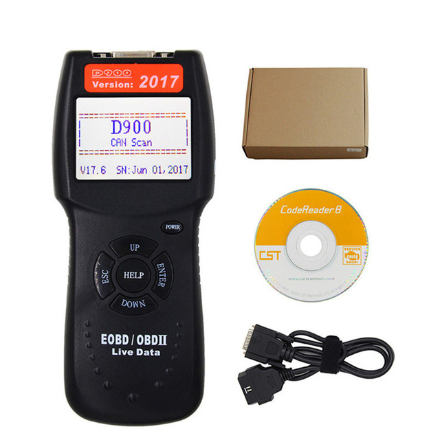 CARPRIE Instrument Tool NEW hot sale D900 CANBUS OBD2 EOBD Live Data Fault Code Reader Scanner Diagnostic Tool high quality 9625