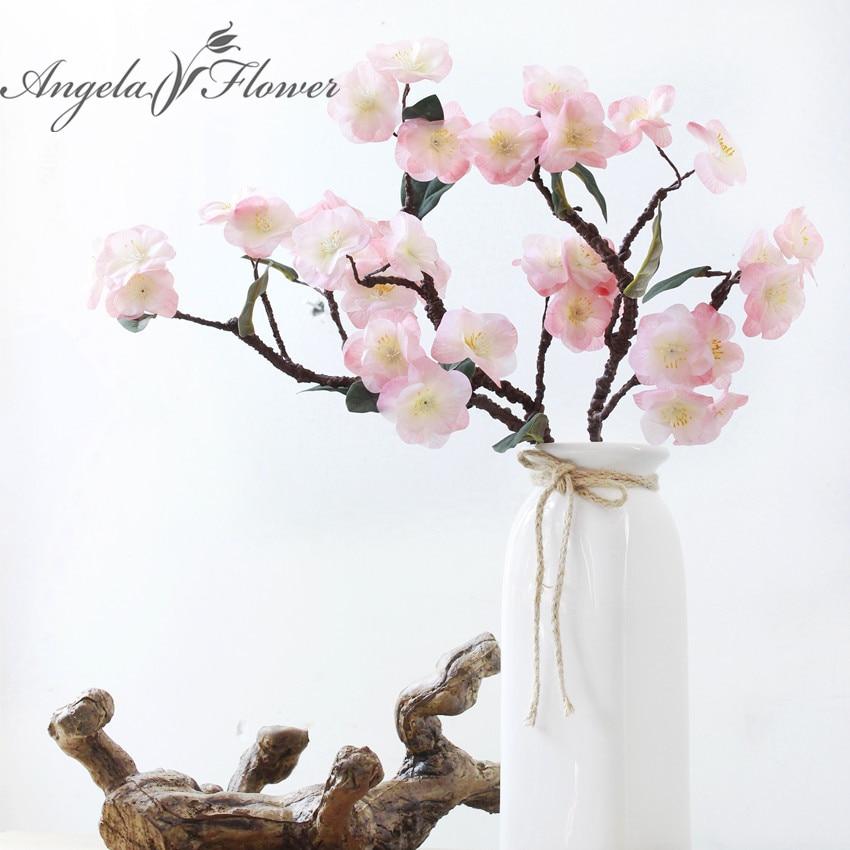 Настоящее сенсорный Hydra искусственный японской вишни поддельные декоративные цветы для свадьбы новые домашние 4 вида цветов HI-Q 1 шт.
