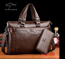 Brand Genuine Leather Men's Messenger Bag Business Men Shoulder Crossbody Bags Handbag Of Famous Design Bolsas Briefcase