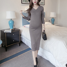BAHEMAMI  Maternity Dress Winter Maternity Clothing Dress One-piece Pregnant Dress Winter Maternity Nursing Dress Sexy design