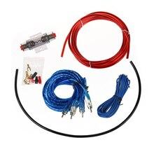Топ предложения 1500 Вт Аудиомагнитолы автомобильные Провода проводки Усилители домашние сабвуфер Динамик Установка комплект 8GA Мощность кабель 60 amp держатель предохранителя