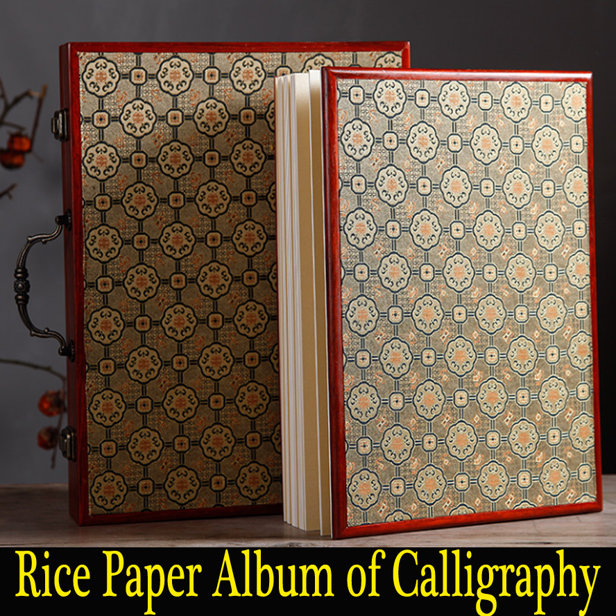 Chinese Rice Paper Notebook Raw Xuan Paper album of paintings calligraphy traditional rice page Art Set Best gift productivity of rice