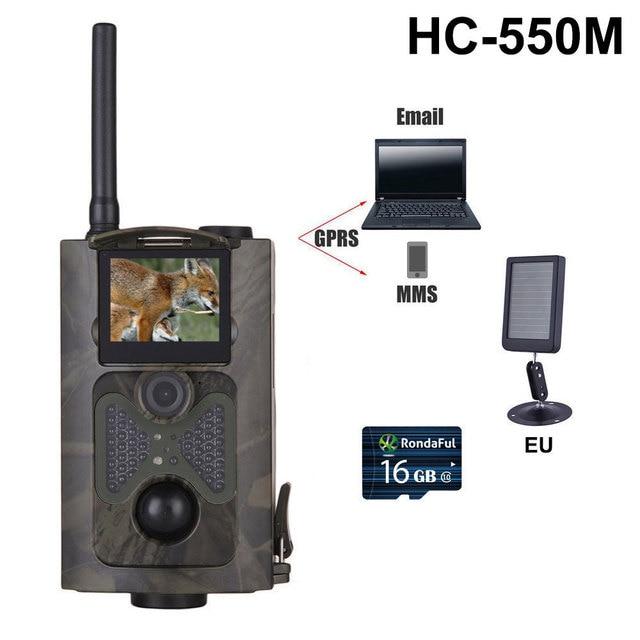 HC550M Hunting Camera 2G GPRS MMS SMTP/SMS 16MP 1080P 120 Degrees PIR Sensor Sight Angle Wildlife Trail Camera