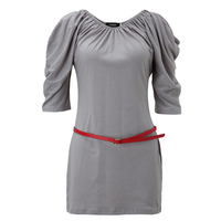 Sisjuly Women Summer Bodycon Dress Girl Sweet Khaki Half Sleeve O Neck Dresses Low Waist Girls