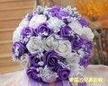 2017 Люкс Для Невесты Свадебный Букет Дешевые Новое Прибытие Белый & Фиолетовый Ручной Работы Искусственный Свадебные Цветы Свадебные Букеты