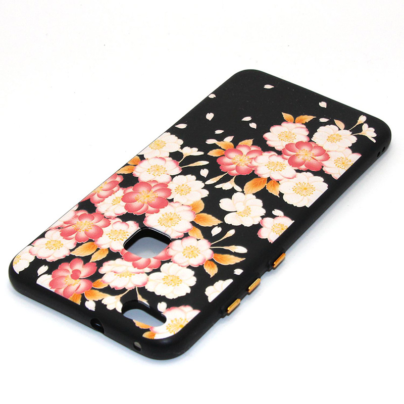 3D Relief flower silicone huawei P10 lite (35)