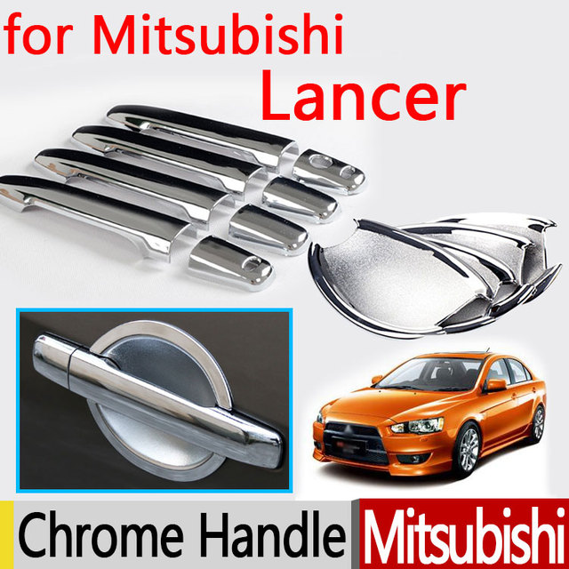 custom chrome upper inserts trim before htm front mitsubishi accessories grill grille lancer