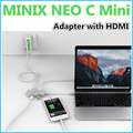 MINIX NEO C Мини, USB-C Multiport Адаптер с HDMI выход UHD (3840x2160) 30 Гц, USB3.0 Silver (Совместим с Apple Macbook)