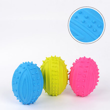 Dog Toys Barbed football Pet TPR Ball Resistance To Bite Molar Health Toothpaste Chew Teddy Samoyed Supplies