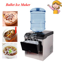 Electric Commercial Household Ice Making Machine 25KG Countertop Automatic Bullet Ice Maker HZB 25 BF