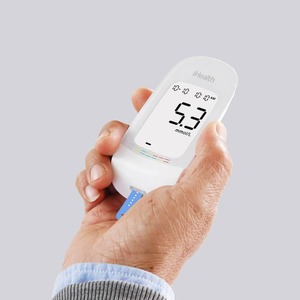 Image 5 - Youpin IHealth Blood Glucose Meter With Test Strips Lancets Compact Portable 5 Gears LCD Digital backlight Memory Storage