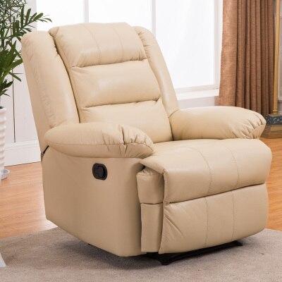 Европейский первый класс кабина Диван офисный дом Многофункциональный один диван стул лежа стул - Цвет: cream white