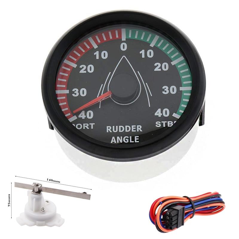 Universal Waterproof 85mm Rudder Angle Indicator Gauge meter 0 190ohm 9 32v DC with Rudder sensor