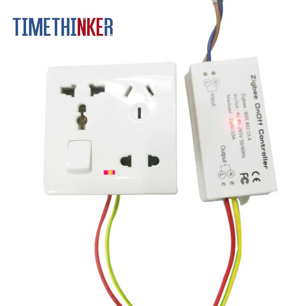 Timethinker Zigbee Smart WiFi interruptor inalámbrico Onoff interruptores Domotica Control remoto bricolaje para Alexa eco de las cosas inteligentes Hub