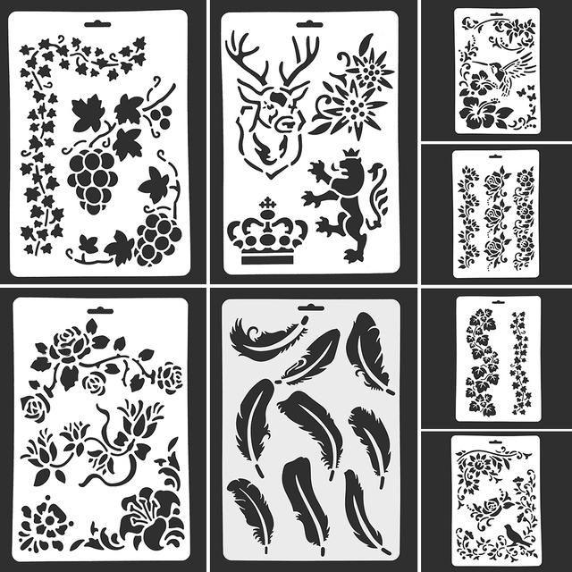 1PC Hollow Template DIY Drawing Tool Number Letter Lace Template ...