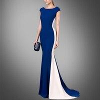 New spring fashion slim dress high end Europe long sleeveless dress