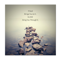 Canvas Wall Art Christian Quotes Series If God Brings You To It He Will Bring You