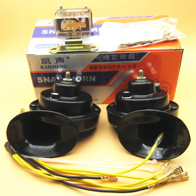 OEM 2Pcs relay with double pitch quality 24V car horn for small vehicles Waterproof speakers DL1618(60B) DL1618(60B)