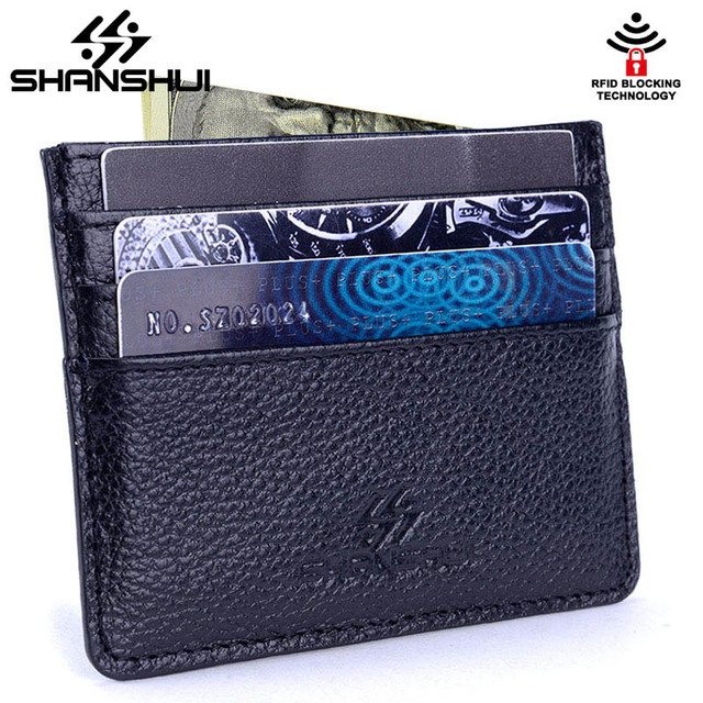 Rfid slim genuine leather card wallet travel 2018 new high quality rfid slim genuine leather card wallet travel 2018 new high quality men women thin business credit reheart Image collections