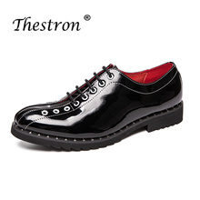 Thestron Men Shoes Dress Mens Formal Shoes Oxford 2018 Summer Autumn Business Derby Shoes Male Luxury Brand Leather Wedding New