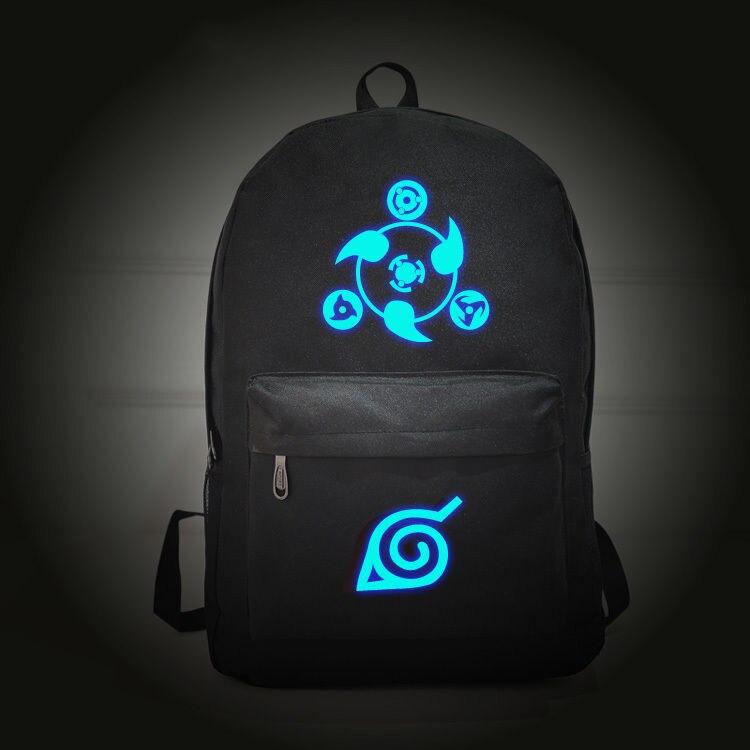 New Naruto Konoha Fairy Tail Sharingan Attack on Titan Kakashi Sasuke Casual luminous Backpack School Bag Travel Gift